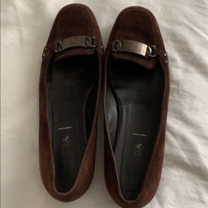 Prada suede loafers, 38
